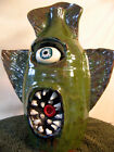 LARGE Swamp ALIEN FACE JUG devil evil art ceramic southern pottery folk gallon