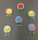 20 pcs Sunflower smiley Pattern Wooden Buttons Fit Sewing and Scrapbook 30MM
