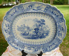 Antique Staffordshire BlueTransferware Platter Canova T Mayer