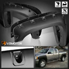 07-13 Chevy Silverado 1500 2500HD/3500HD Black Rivet Fender Flares Pocket Style