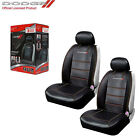 New 2pc Dodge Elite Synthetic Leather Sideless Car Truck Front Seat Covers