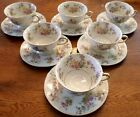 VINTAGE German KPM Royal Ivory The Symphony Porcelain Cups & Saucers, Set of 6
