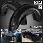 Fits 2009 2014 Ford F150 Black Pocket Rivet Style Wheel Fender Flares Cover 4PC