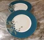 222 Fifth Dinner Plates. Eliza Teal. Set Of 4. Beautiful. Porcelain. New