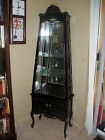 Black French Display Cabinet.... You ship.
