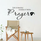 Life Is Fragile Handle It With Prayer Wall Decal Quote Christian Saying Sticker
