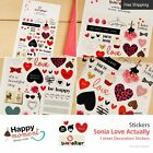 Sonia Love Actually Stickers Diary Scrapbook Deco Calendar Label Crafts 1 sheet