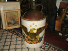 Antique Stoneware Pottery 5 Gallon Whiskey Jug-American Eagle-Country Decor-24LB