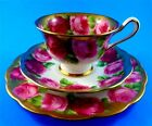 Heavy Gold Royal Albert Old English Rose Tea Cup, Saucer and 7