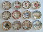 222 FIFTH Twelve Days Of Christmas Salad Cake Plates Complete Set of 12