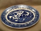 Blue Willow Platter Willow Holland Blue  P Regout Maastricht 11-1/2