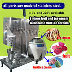 food grade fruit ice cream mixer/yogurt ice cream blender with plastic cone cup
