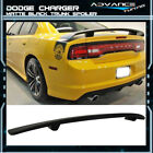 Fits 11-18 Dodge Charger SRT Matte Black Finish Rear Trunk Spoiler Wing ABS