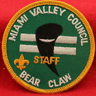 MIAMI VALLEY COUNCIL OHIO BEAR CLAW STAFF BOY SCOUTS  PATCH
