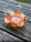 Carnival Glass Marigold Compote with Handles
