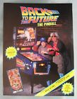 Data East BACK TO THE FUTURE Pinball Machine Flyer Excellent Condition
