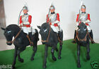 VINTAGE BRITAINS EYES RIGHT, 3 x mounted LIFE GUARDS in very good condition