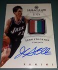 2012-13 Immaculate JOHN STOCKTON Chinese Red 4 Clr Patch & Autograph **17 25**