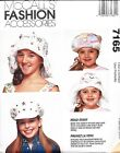 Vintage McCall's Hat Pattern 7165 for girls.1994 10 Styles & Trim Variations