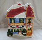 Ceramic Holiday Bakery Hand Painted Cookie Jar