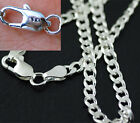 Fashion 4MM 925 Sterling Silver Plated Chain Men Figaro Necklace 16 30 Inch NEW
