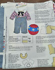 Raggedy Andy Doll Clothes Panel Pattern Fabric 2 Outfits 25
