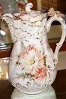 Antique Redon Limoges Chocolate Pot Dresden Hand Painted 1890's   Artist Signed