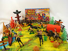 DETAILED! COWBOYS and INDIANS Western Playset plastic armymen soldiers vs CB10