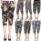 2015 Women Casual Loose Fit Floral Printed Harem Shorts Pant Trouser Joggers