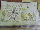 Crewel Pillow Kit Erica Wilson Frog and the Spider Hiawatha NIP Vintage 1968