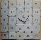 20 DUTCH DELFT TILES 17th century : CHILDREN'S GAMES