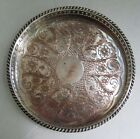 Vintage Sheffield England Silver Plate on Copper Gallery Bar Tray