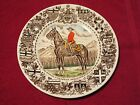 THE ROYAL CANADIAN MOUNTED POLICE COLLECTIBLE IRONSTONE PLATE ENGLAND WOOD