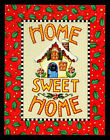 MARY ENGELBREIT Set 8 Blank Christmas Note Cards HOME SWEET HOME Red Green NEW
