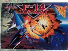 NOS - F14 Tomcat pinball translite backglass, signed by designer Steve Ritchie