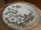 Antique Porcelain T&V Limoges France Depose FLOWER  Plate Charger