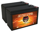 QTY 2 VMAX63 12V 10AH AGM SLA Battery for Razor Pocket Mod Electric Scooter