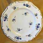 Antique 19th c Porcelain Plate Hand Painted Gold/Blue Flower Transfer/Crown Mark