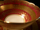 ROYAL STAFFORD BONE CHINA TEA CUP AND SAUCER  RED AND GOLD WHITE CENTER