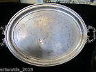 UNIQUE ANTIQUE WMF Silver Plate BIG SERVING DISH/TRAY HAND ENGRAVED Art Deco19c.