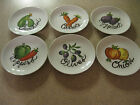 Lenox Six Vegetable Theme Bread & Butter or Appetizer Plates