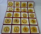 DANBURY MINT HUMMEL GOLD Set of 20 Different Christmas Ornaments witih Boxes