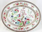FAB ANTIQUE ROYAL DOULTON CHINA INDIAN TREE E1381 OVAL PLATTER HAND PAINTED 1902