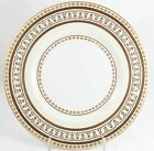 FINE MINTON CHINA H3865 DINNER PLATE RAISED GOLD ENCRUSTED WHITE CREAM JEWELED