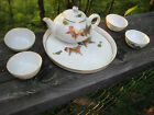 PORCELAIN CHILDS' TEA SET GOLDFISH DESIGN DELICATE GILDED