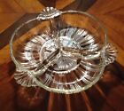Beautiful Divided Depression Glass Dish Relish Tray Snack Plate 7
