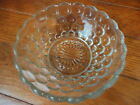 Anchor Hocking Clear Bubble Glass Dessert Bowl 4-1/8