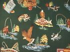 Joan Kessler Concord Fabrics Fly Fishing Fabric 1 Yd Trout Bear Eagle