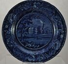 Antique R. Hall Dark Blue Staffordshire Picturesque Scenery Fulham Church Plate