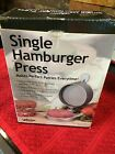 New Weston Non-Stick Single Hamburger Press